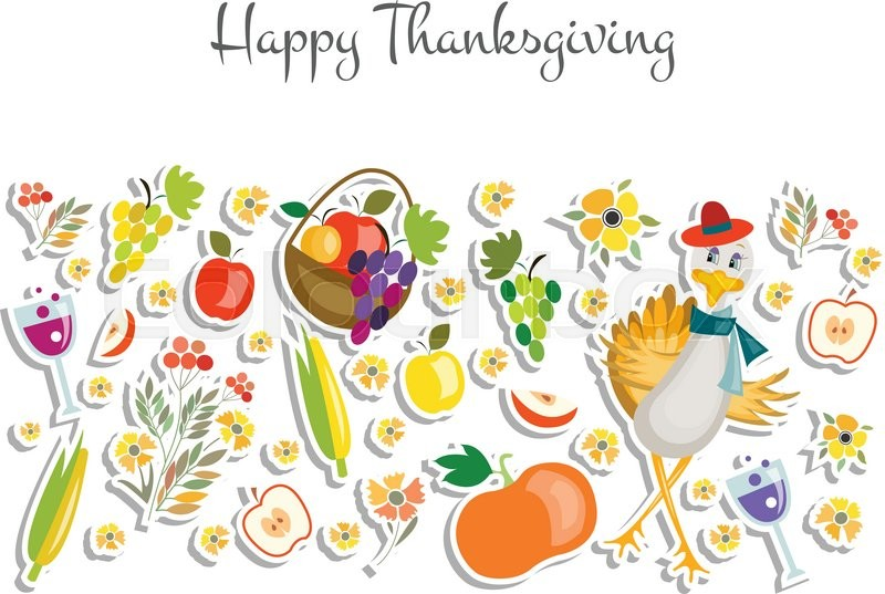 Thanksgiving Icon Logotype Or Badge Card Template Happy Banner Flyer Vector