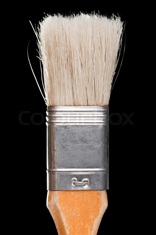 Wall Design Paint Brush : Home improvement wall decorating paint brush tool stock