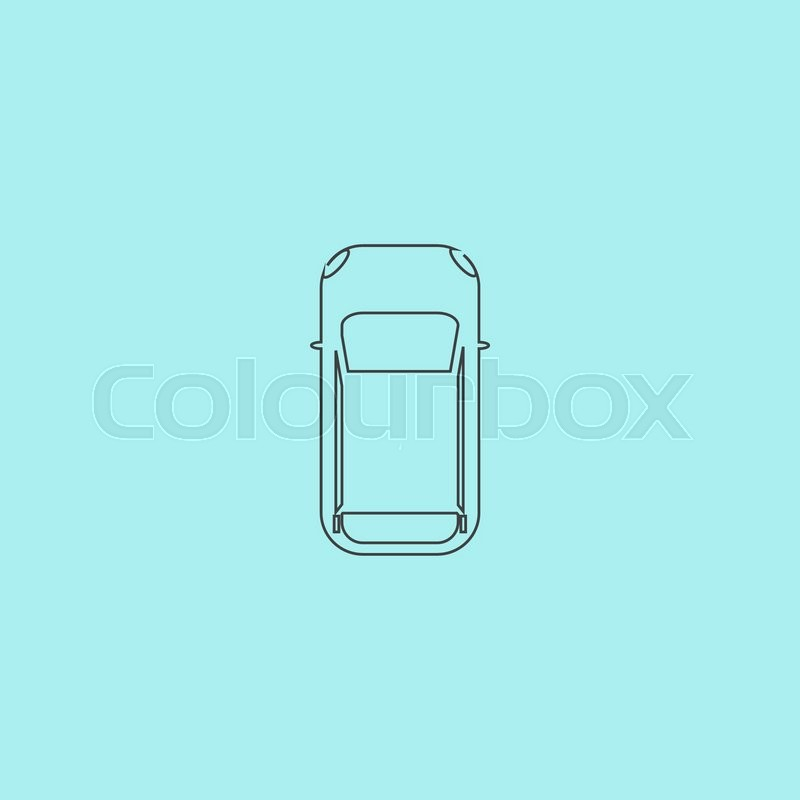 Car top view outline vector