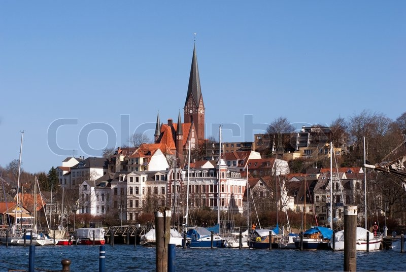 Flensburg skyline der stadt stockfoto colourbox - Architektur flensburg ...