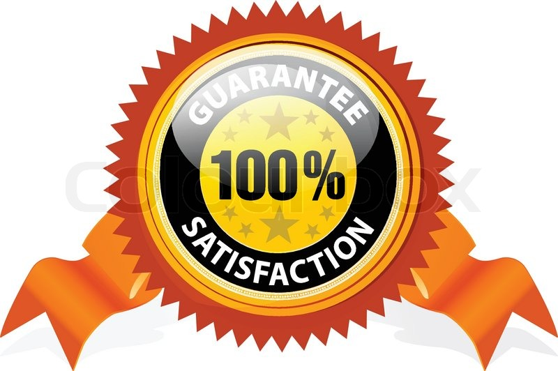 100 satisfaction guaranteed sign with ribbon on white background rh colourbox com 100 satisfaction guaranteed logo vector 100 satisfaction guaranteed logo