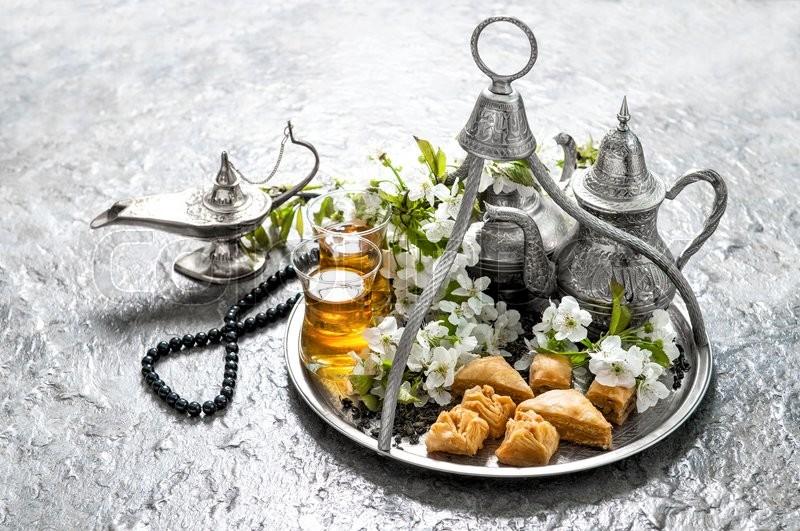 Islamic holidays food with decoration      | Stock image