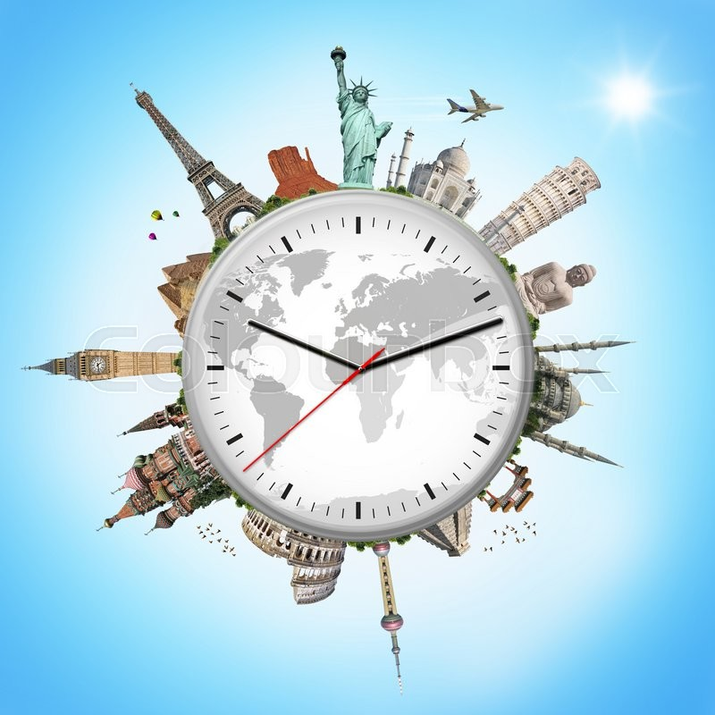 The Second Most Famous Clock In The World: Famous Monuments Of The World Surrounding A Clock
