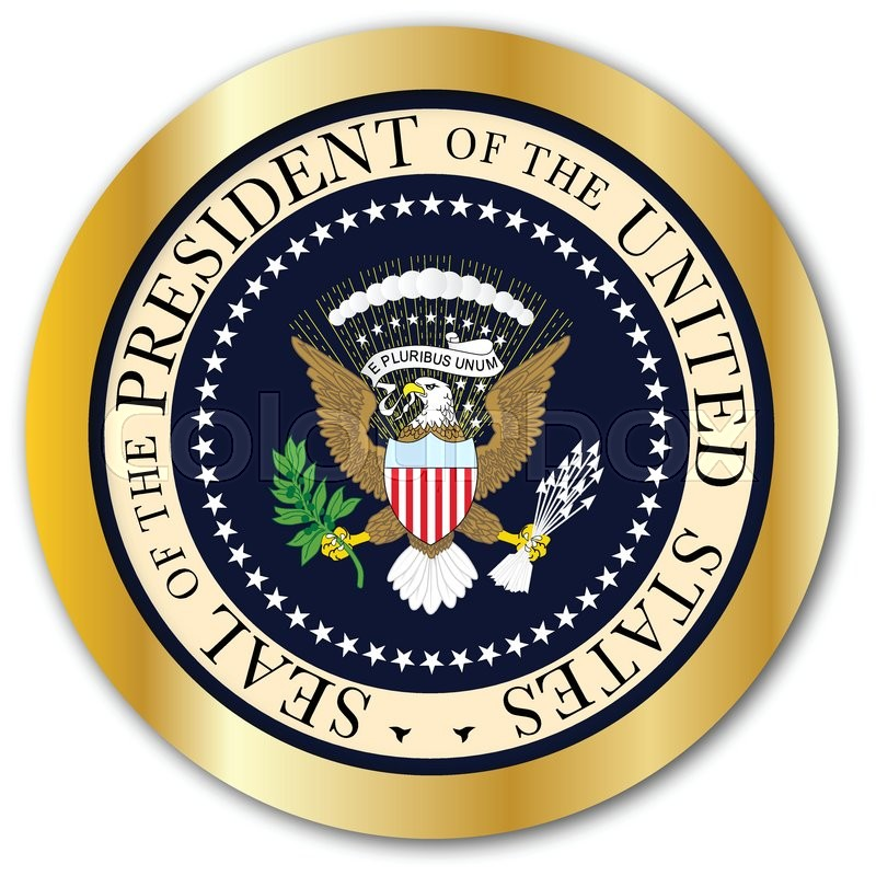 a depiction of the seal of the president of the united states of rh colourbox com us presidential seal vector HHS Logo Vector