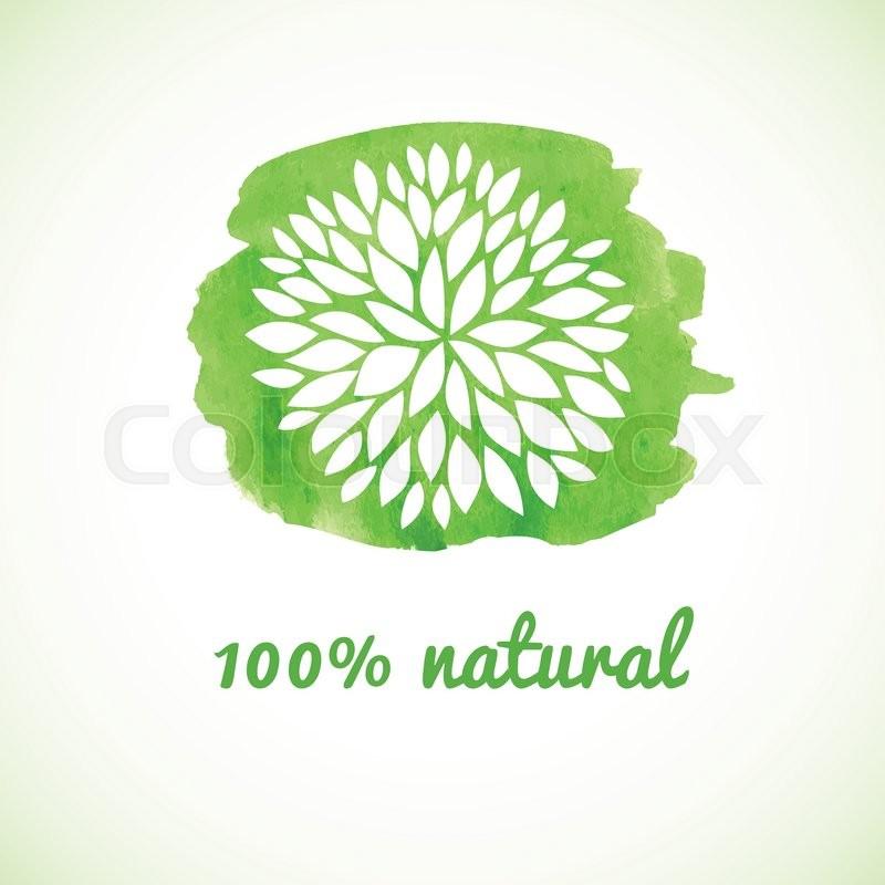 100 Natural Vector Banner Logotype Stock Vector Colourbox