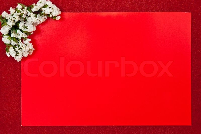 Hd Blank Birthday Background : Red greeting card on red background with flowers design  Stock Photo ...