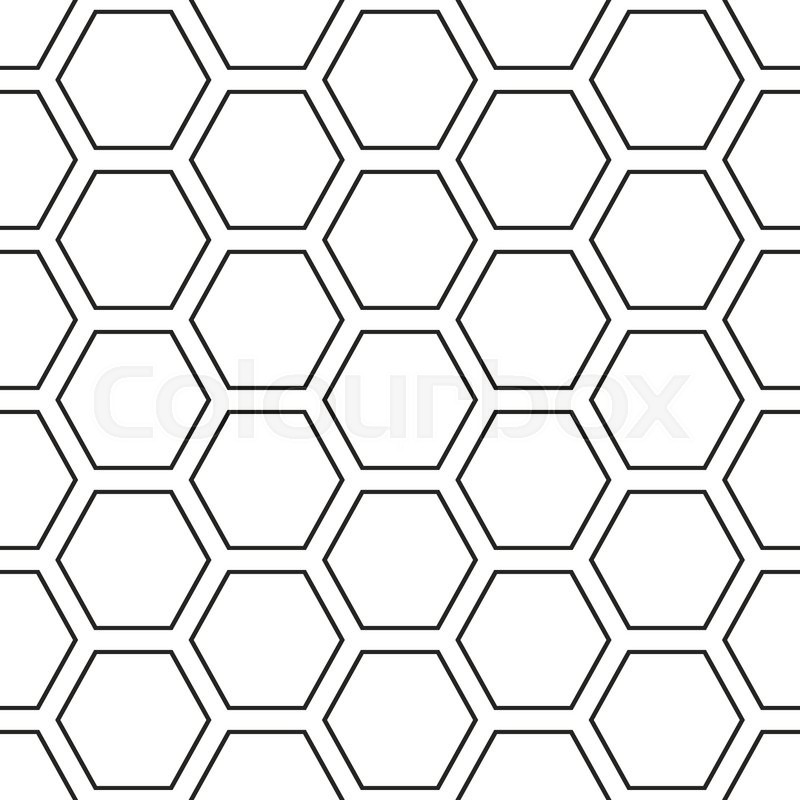 Hex Lines Grid Texture Stripped Geometric Seamless Pattern Modern