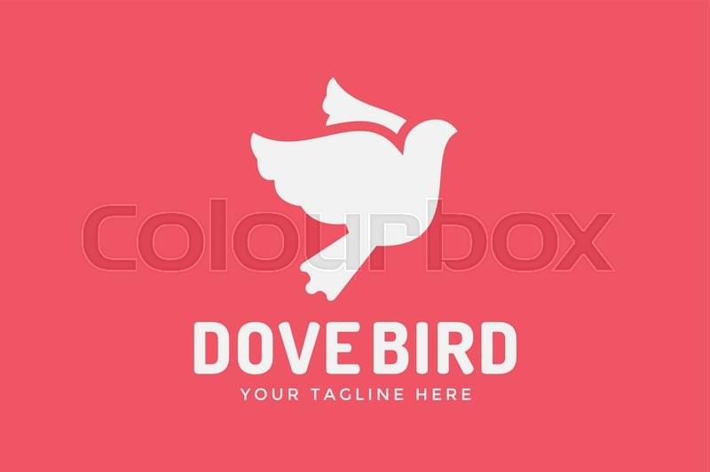 Dove Vector Logotype Dove Logo Dove Symbol Bird Dove Monogram