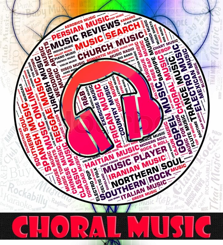 Choral Music Representing Sound Track     | Stock image | Colourbox