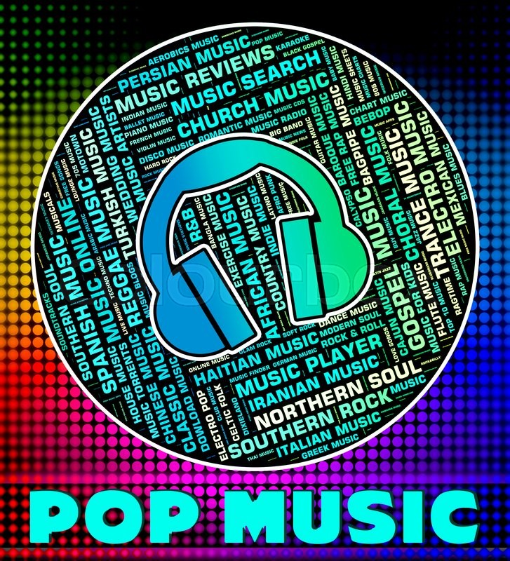 Pop Music Representing Sound Track And     | Stock image