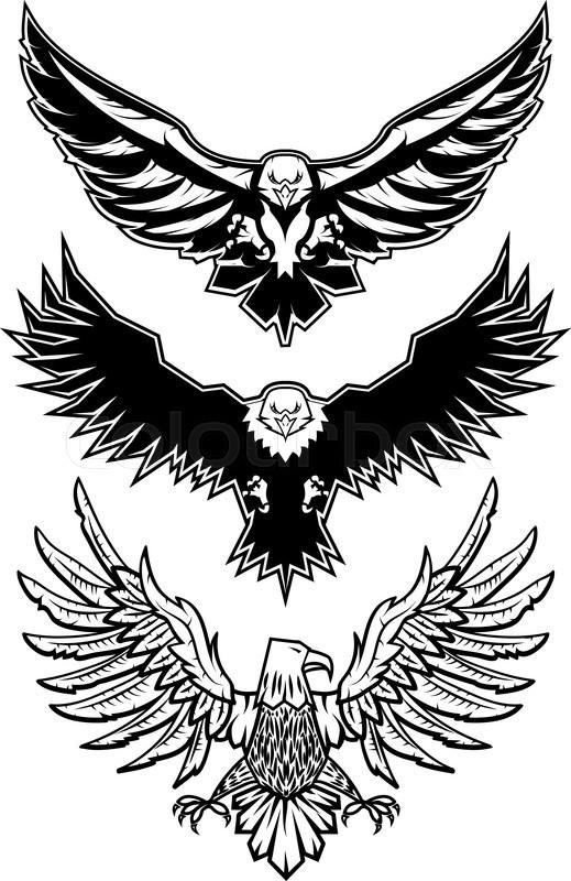 set of vector eagles logo badge or label design template vector