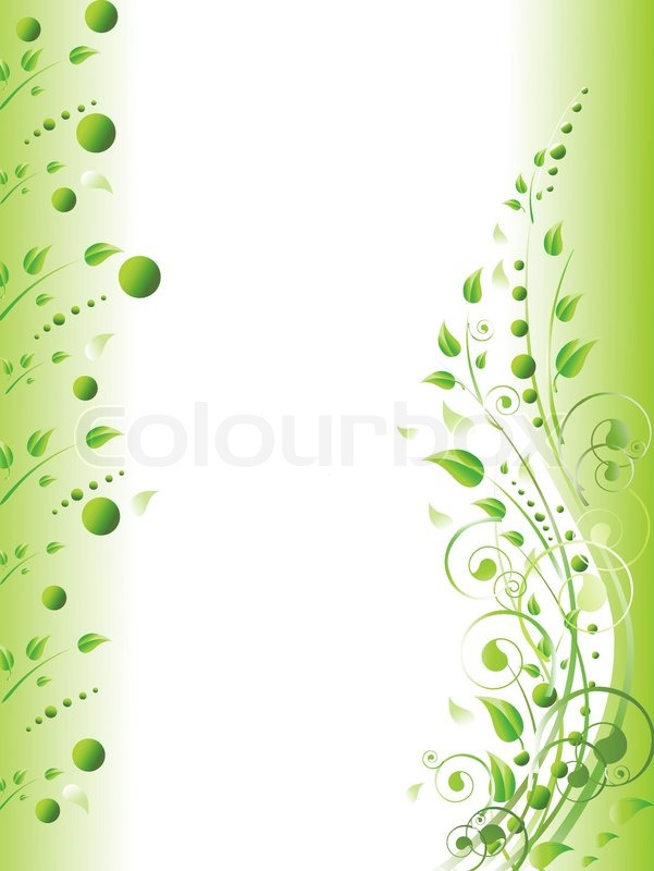 Floral Frame With Swirls And Foliage Stock Vector