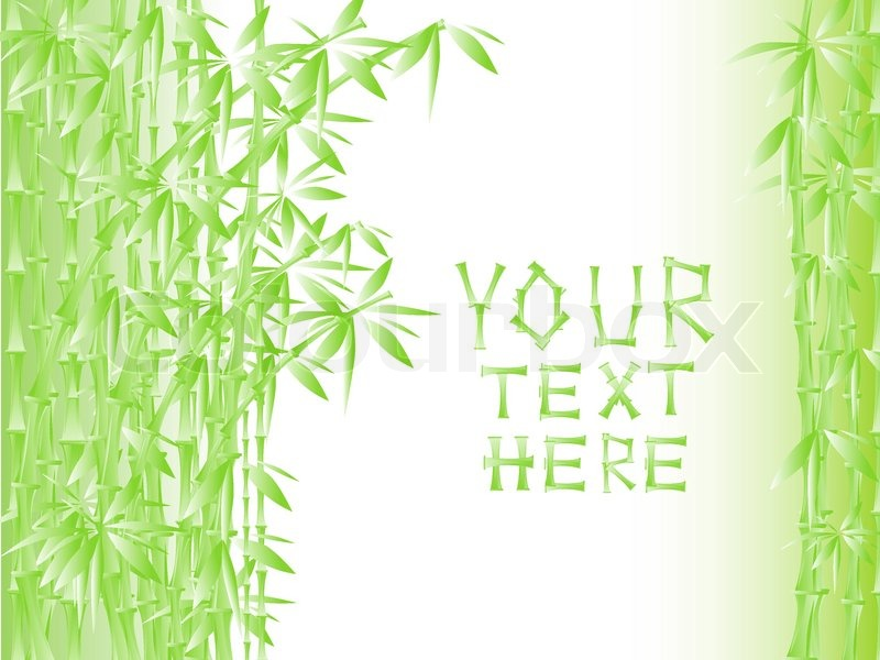 illustration von grünem bambus mit   stockvektor