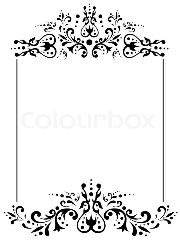 illustration von vintage rahmen mit copyspace in schwarz und wei vektorgrafik colourbox. Black Bedroom Furniture Sets. Home Design Ideas