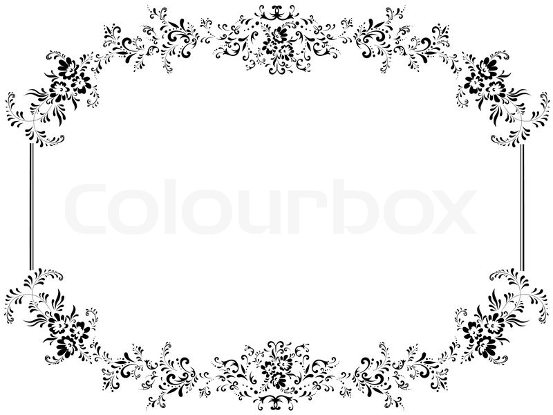 Illustration Of Vintage Floral Frame With Copyspace