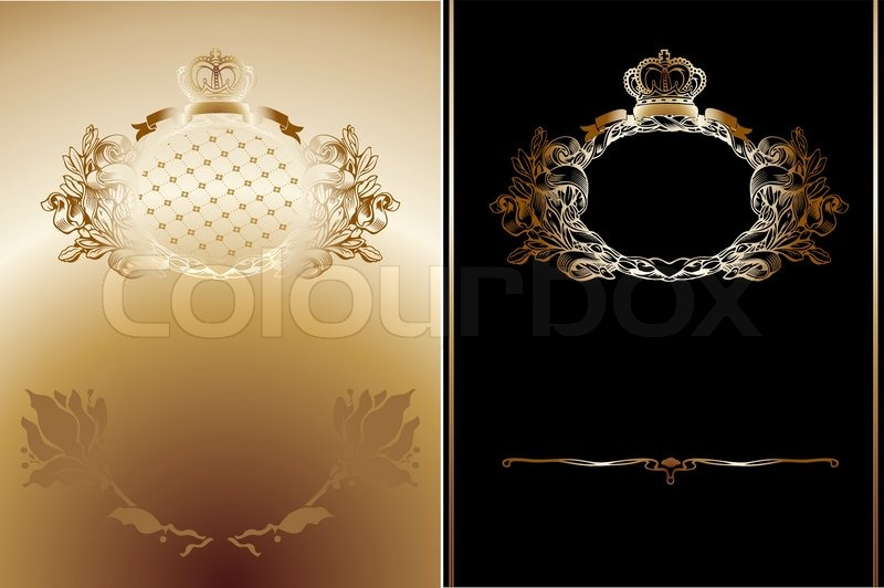 Gold And Black High Ornate Royal Backgrounds