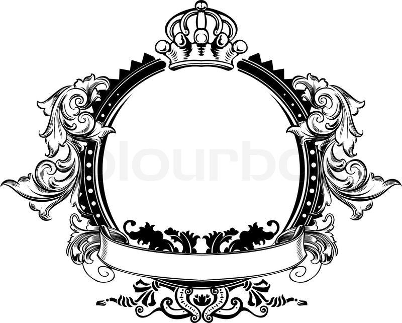one color high ornate vintage frame stock vector colourbox rh colourbox com ornate vintage frame vector ornate frame vector png