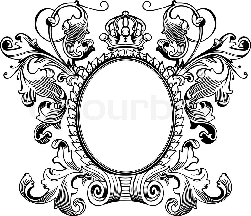 antique frame drawing. Antique Frame Engraving, Scalable And Editable Vector Illustration | Stock  Colourbox Antique Frame Drawing I