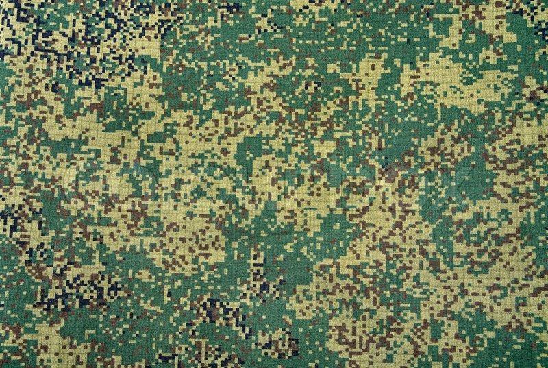 Camouflage Armee Textur mit sichtbaren Leinwand Muster