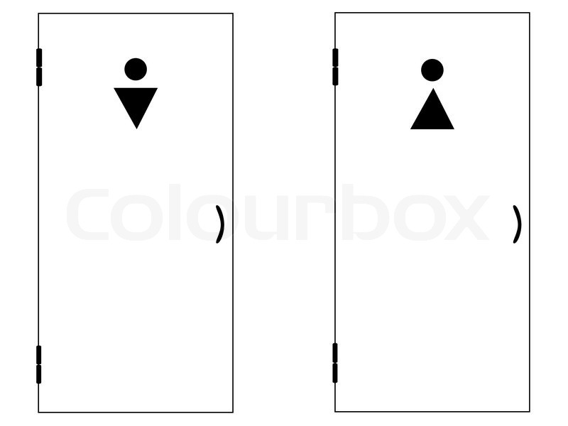 Illustration of the two toilet doors for man and woman vector  sc 1 st  Colourbox & Illustration of the two toilet doors for man and woman | Stock ... pezcame.com