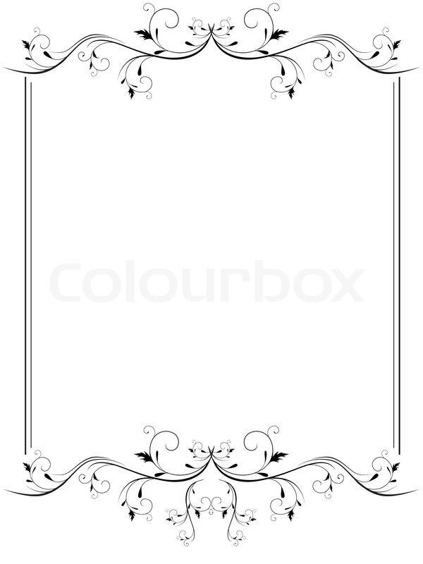 Illustration von Vintage-Rahmen in Schwarz und Weiß | Vektorgrafik ...