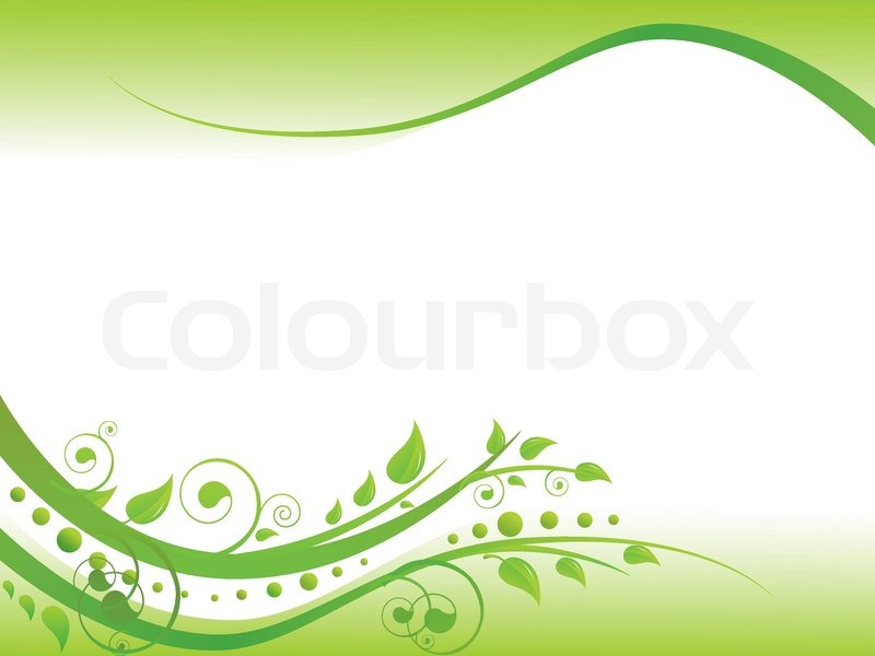Illustration Of Floral Border In Green With Copy Space For