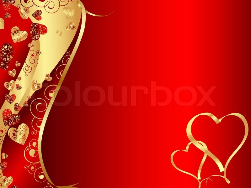 horizontal red abstract wavy heart frame with copyspace for your text stock vector colourbox - Heart Frame