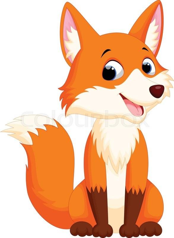 Vector illustration of cute fox stock vector colourbox - Clipart renard ...