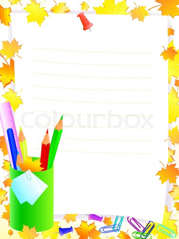 School Supplies Frame School supplies with frame for