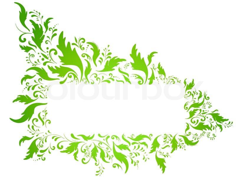 illustration von gr n floral rahmen mit copyspace gegen wei en vektorgrafik colourbox. Black Bedroom Furniture Sets. Home Design Ideas