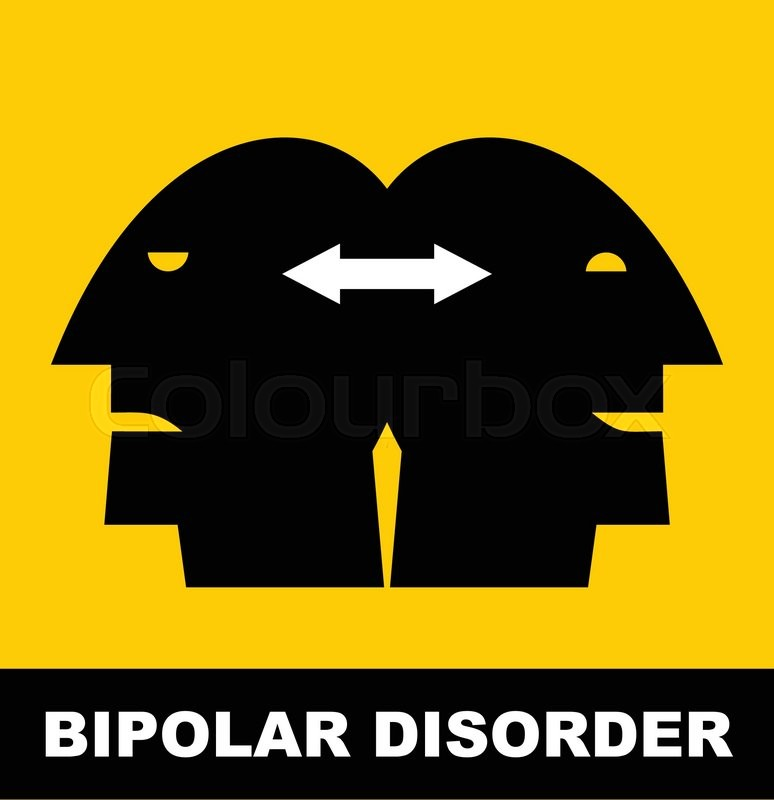 Simple Flat Icon Of A Bipolar Disorder Person Vector Illustration