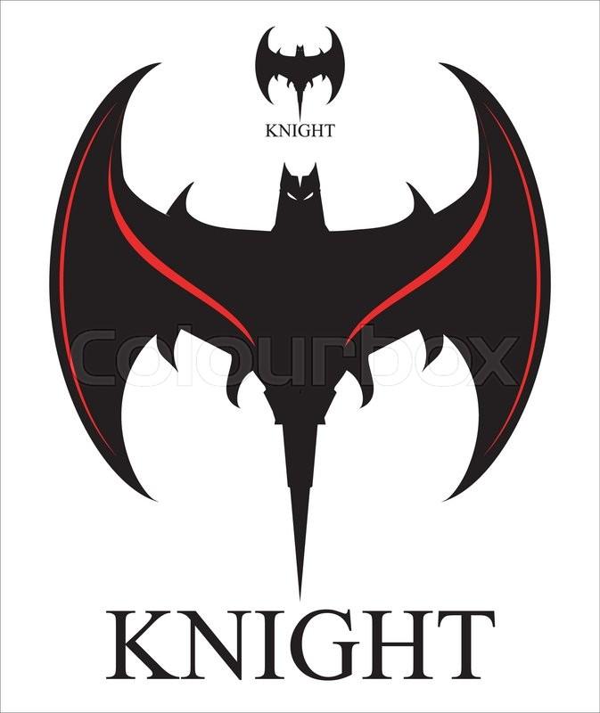 b085d1f30 Black Bat. Stylized Bat over the ... | Stock vector | Colourbox