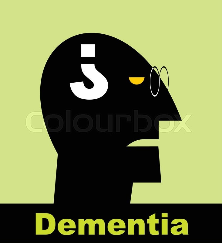 Dementia Alzheimer Head And Question Mark Mental Health Symbol