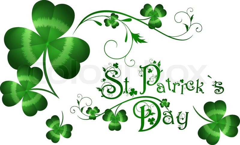800px_COLOURBOX1592809 st patrick day greeting with shamrocks stock vector colourbox