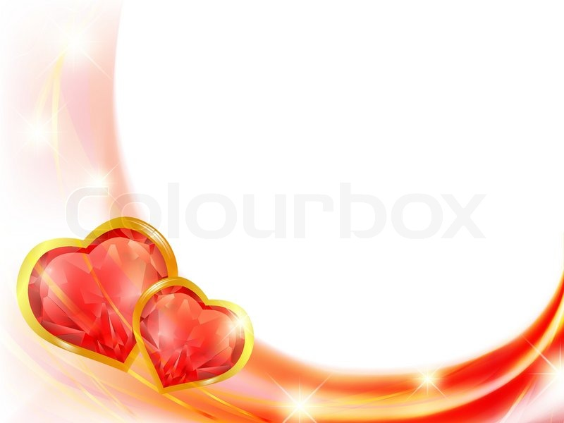 Rubin Herz Rahmen in Rot-und Goldtönen | Vektorgrafik | Colourbox