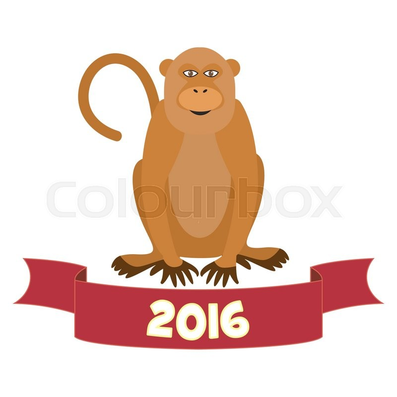 2016 chinese lunar new year monkey vector - Chinese New Year Of The Monkey