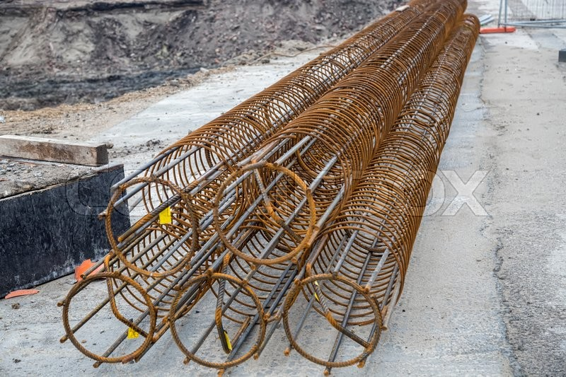 Reinforcement Cages For A Foundation Piles At Construction