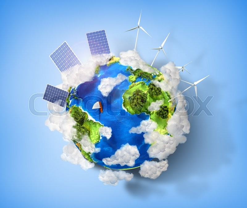 Concept Of Green Energy And Protect Stock Photo