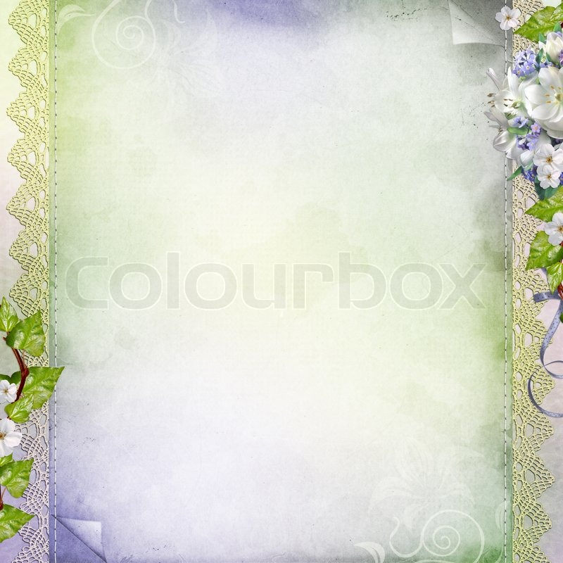 beautiful geburtstag hochzeit urlaub hintergrund mit wei en blumen stockfoto colourbox. Black Bedroom Furniture Sets. Home Design Ideas