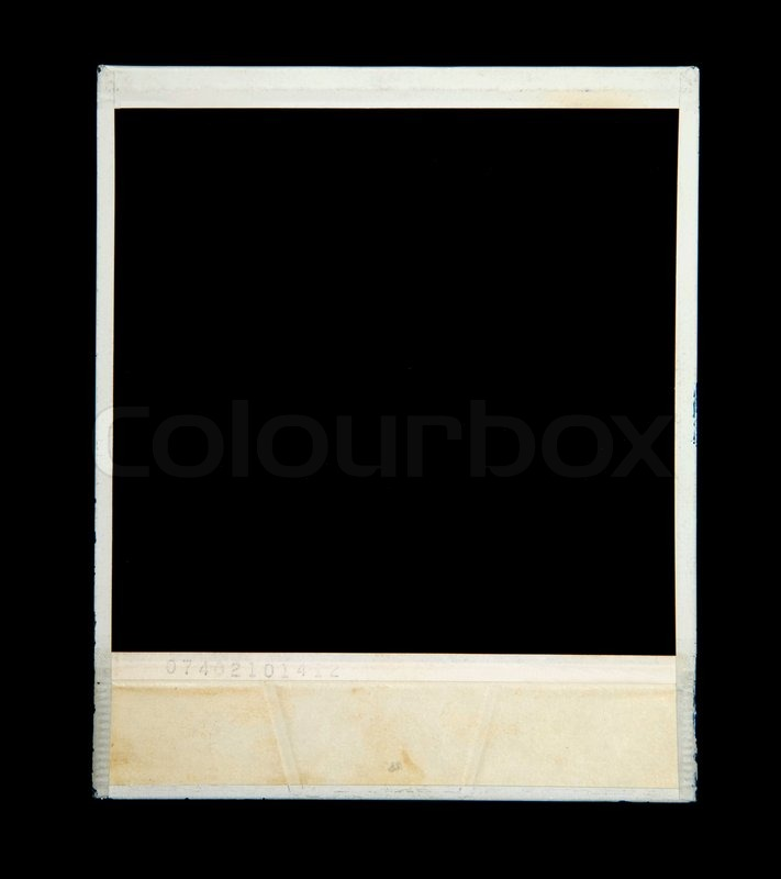 Old Camera Frame Isolated On Black Background Stock
