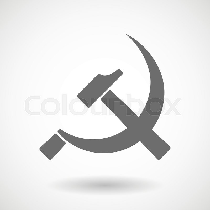 Isolated Vector Illustration Of The Communist Symbol Stock Vector