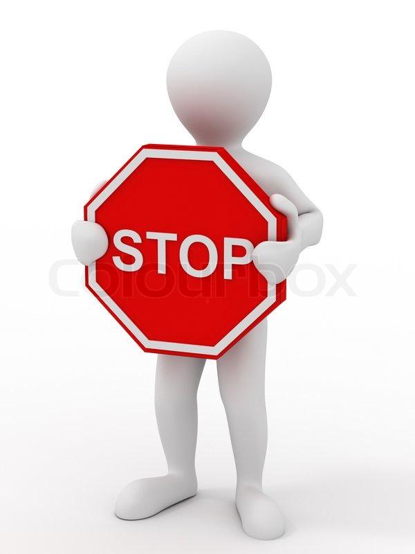 m u00e4nner mit stop schild stock foto colourbox No Abuse Clip Art Book Clip Art