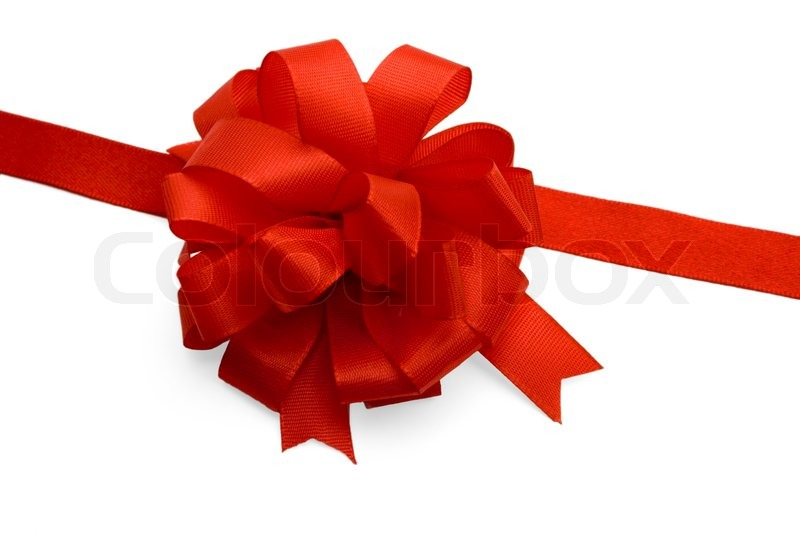 Gift ribbon and red bowisolated on white background stock gift ribbon and red bowisolated on white background stock photo colourbox negle Images