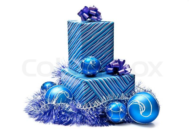 Xmas gift blue