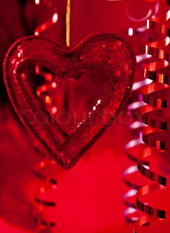 red weihnachtsstern und b nder auf rotem hintergrund stock foto colourbox. Black Bedroom Furniture Sets. Home Design Ideas
