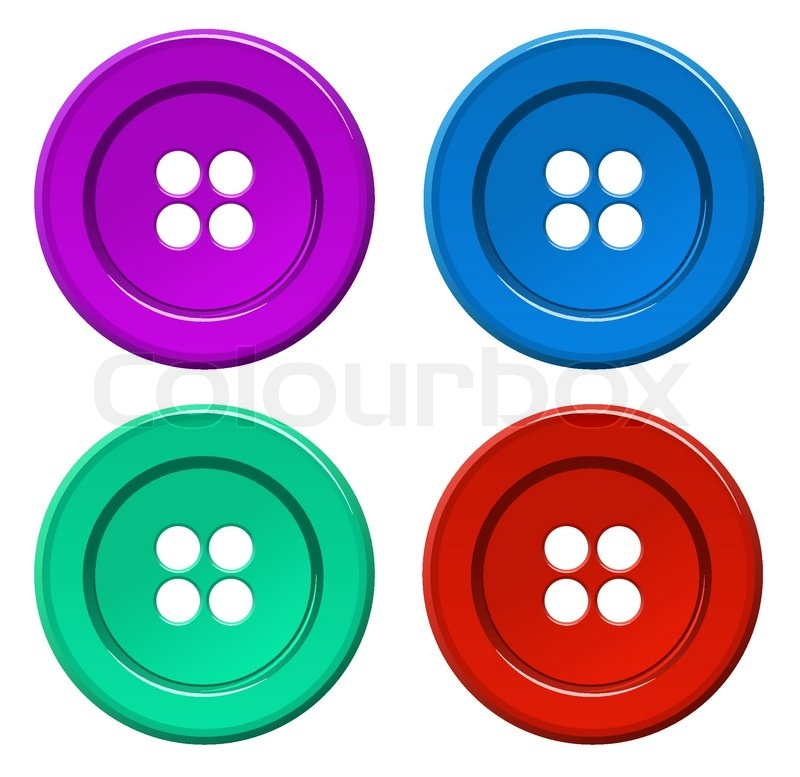 Colored Button Vector Stock Vector Colourbox