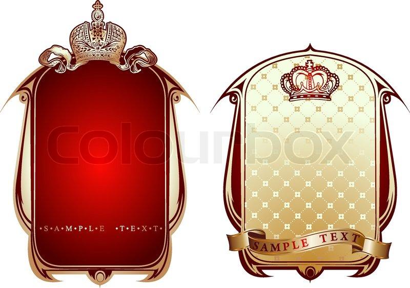 Red And Gold Royal Ornate Banner Vector Illustration