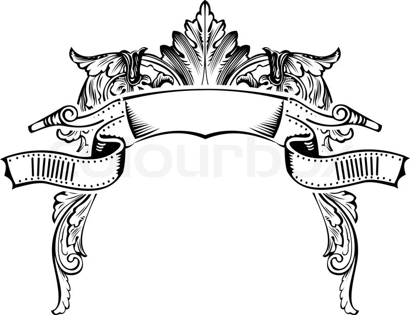 antique half frame engraving scalable and editable vector illustration vector - Engraved Frame
