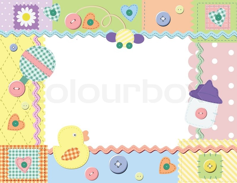 Baby frame or card. Vector illustration | Stock Vector ...