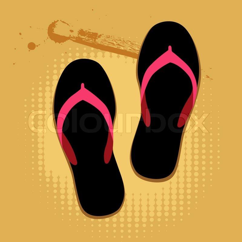 c17086d0a9795 Beach sandals on sand